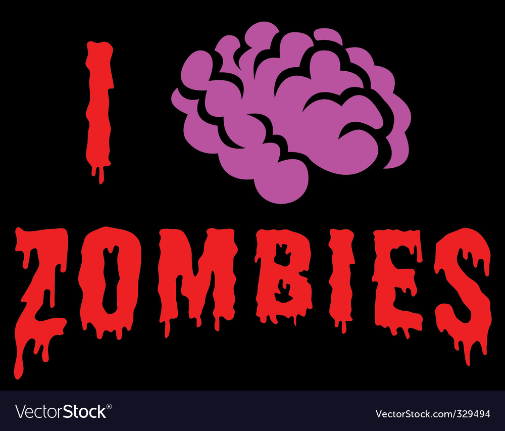 I love zombies vector