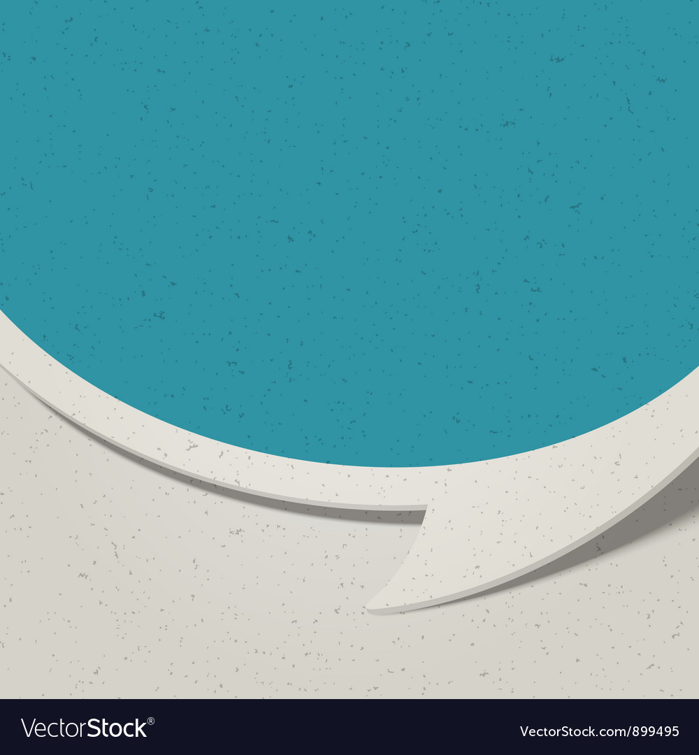 Retro speech bubble background vector