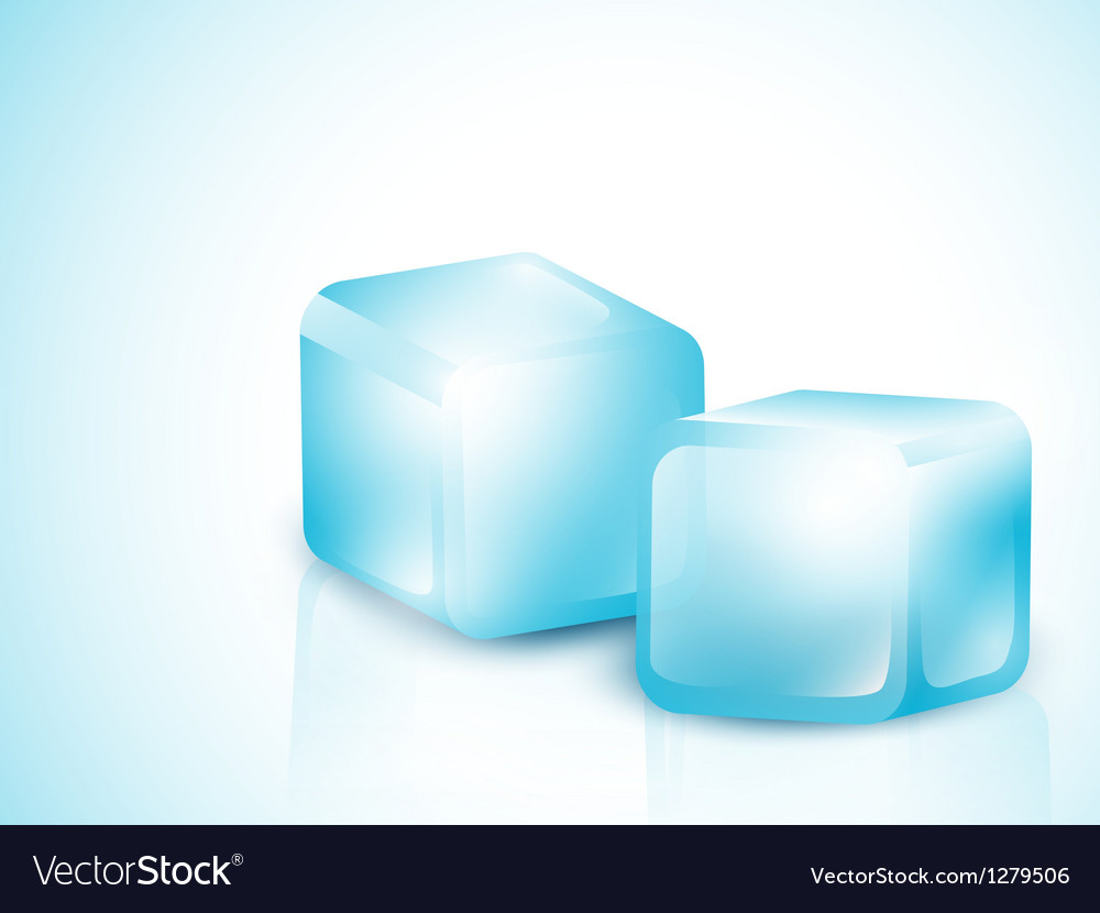 Two blue ice cubes vector