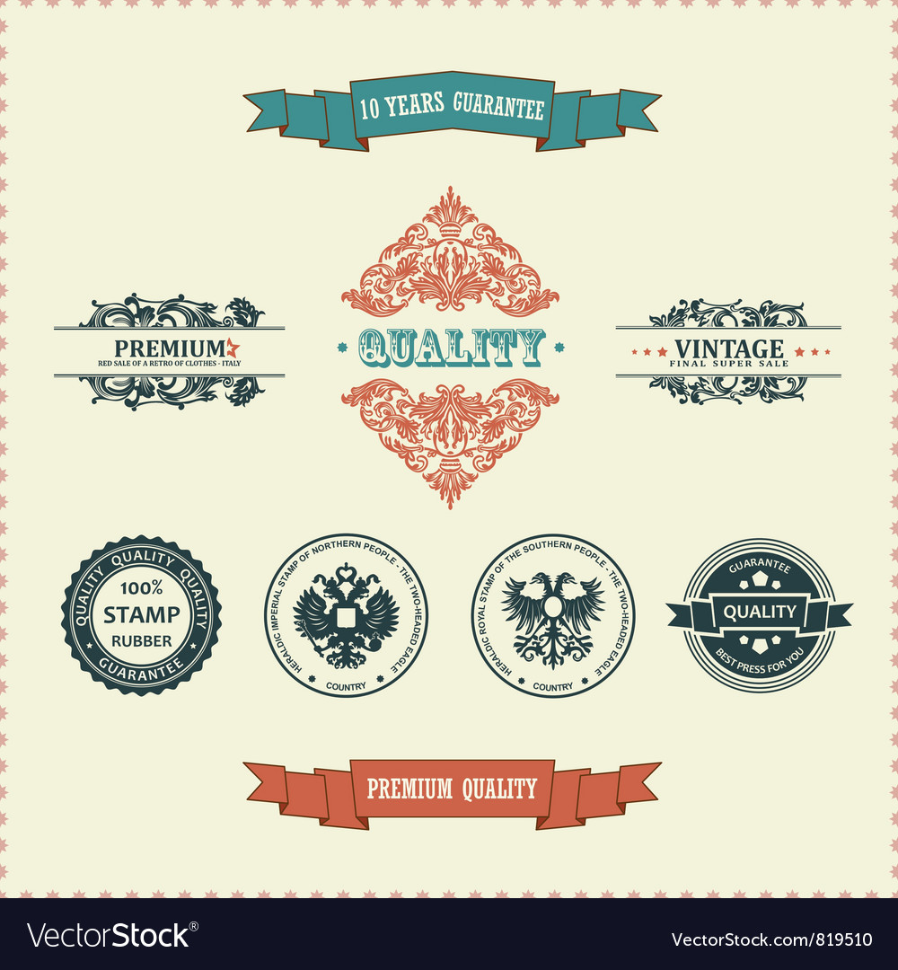 Vintage ornate decor vector