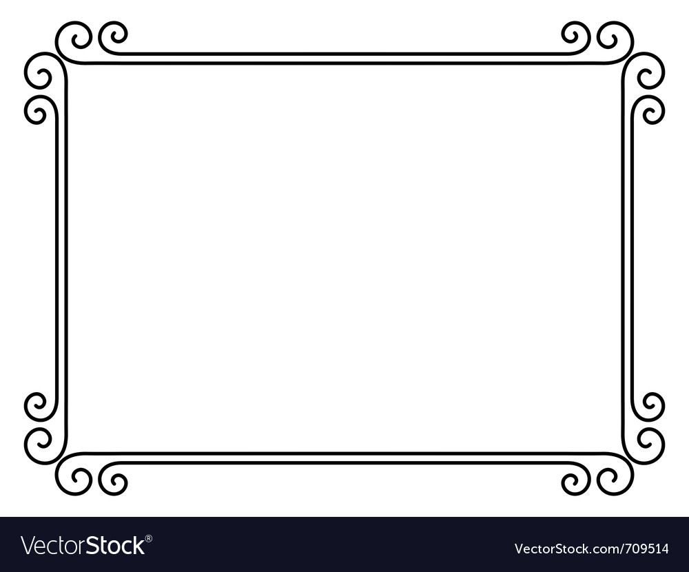 Ornamental decorative frame vector
