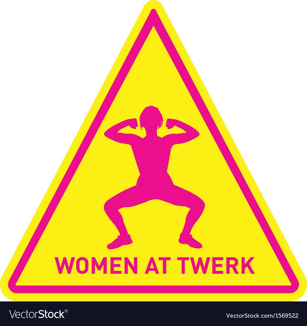 Women at twerk sign