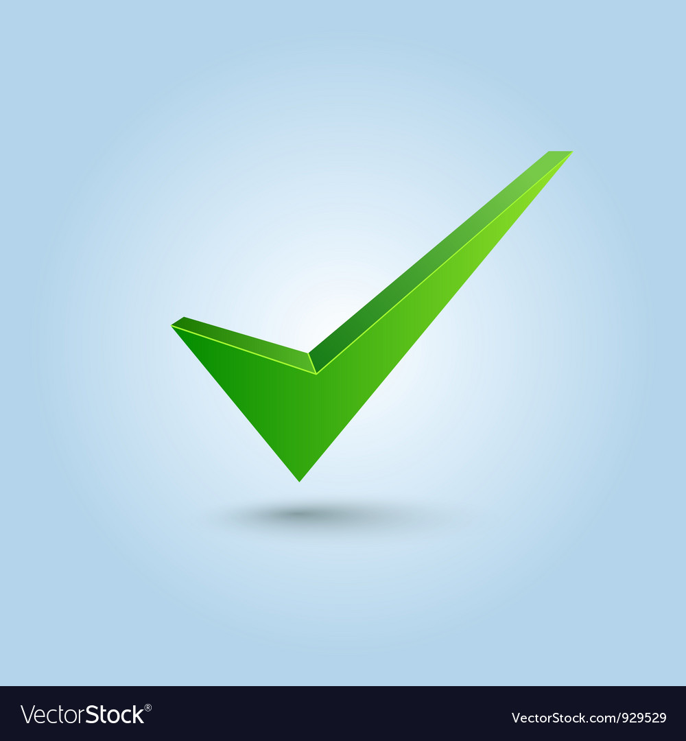 Green check mark symbol vector