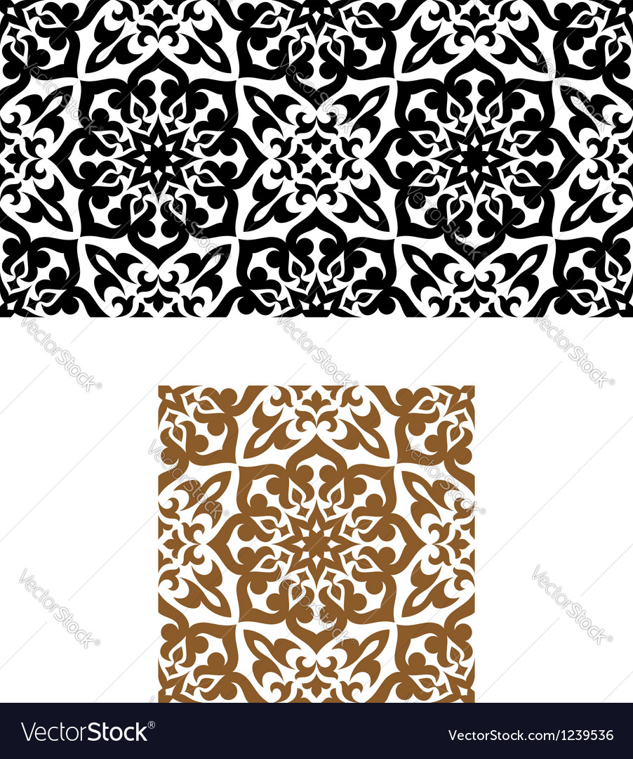Arabic seamless ornament in retro style vector