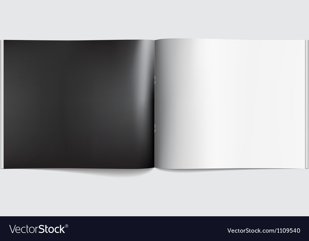 Magazine blank page template for design layout vector