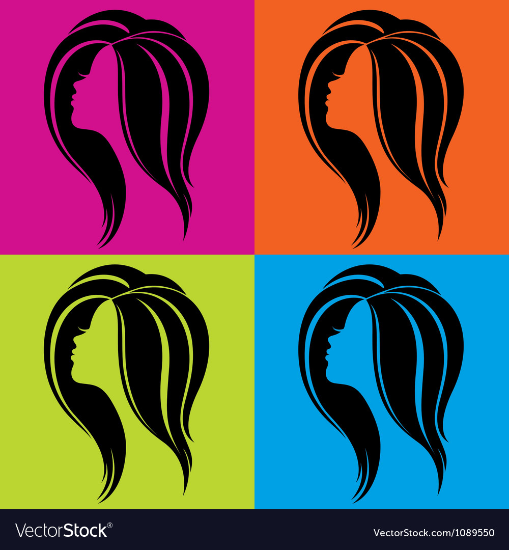 Girls profile in popart style vector
