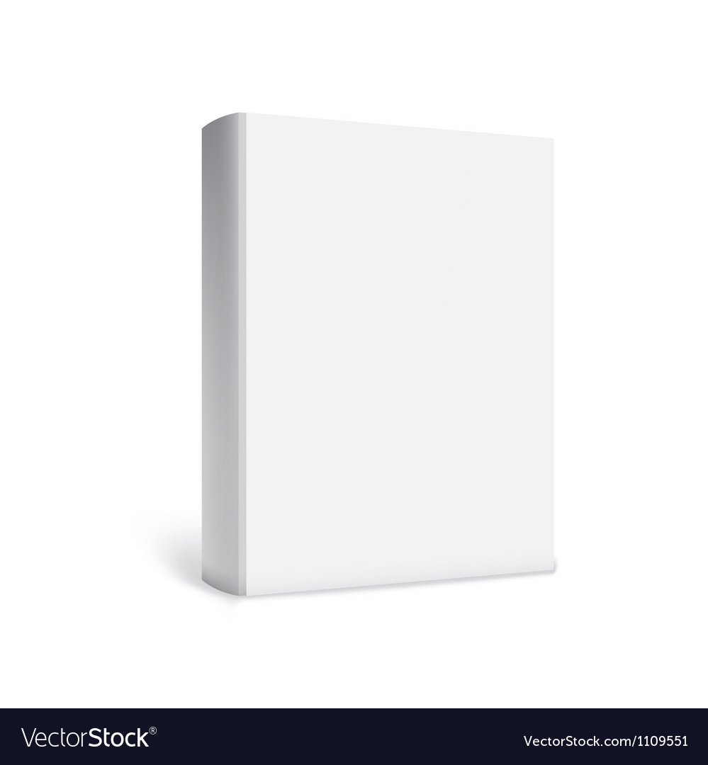 Empty white books vector