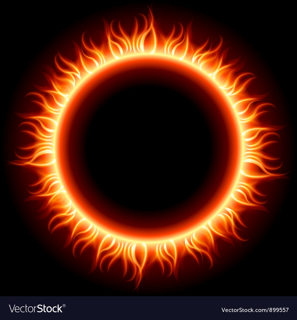 Abstract burning sun vector