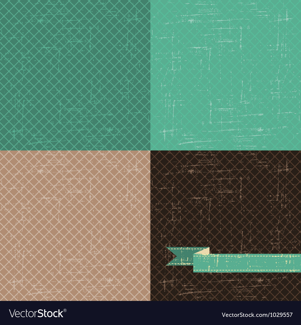 Seamless abstract retro pattern stylish grunge vector