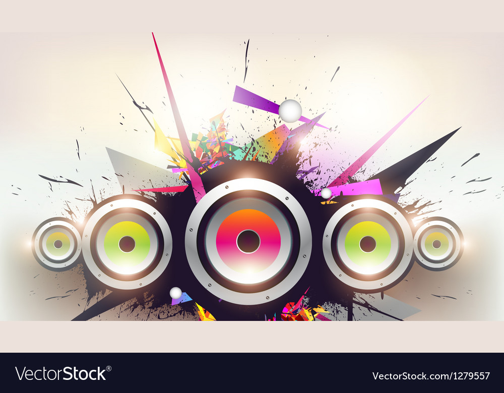 Speakers design vector