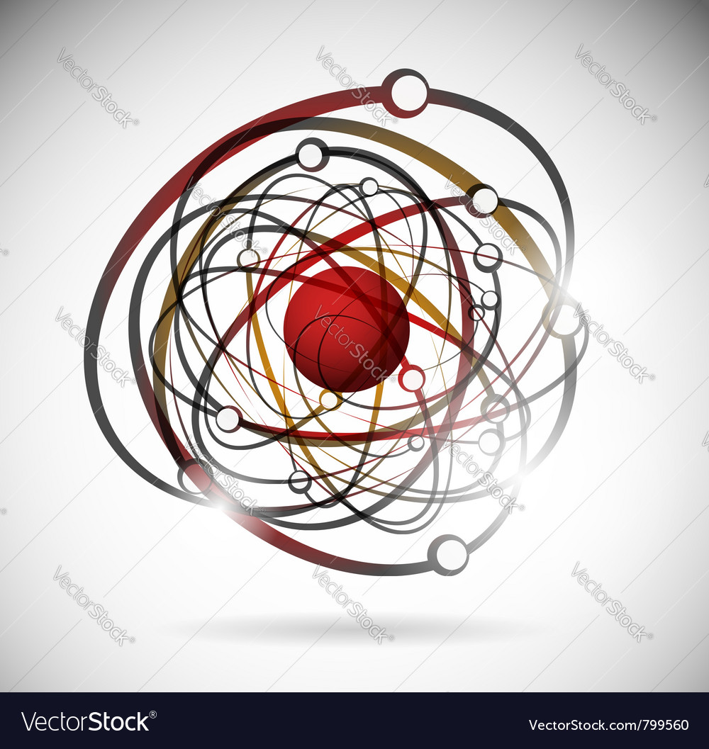 Abstract atomic background vector