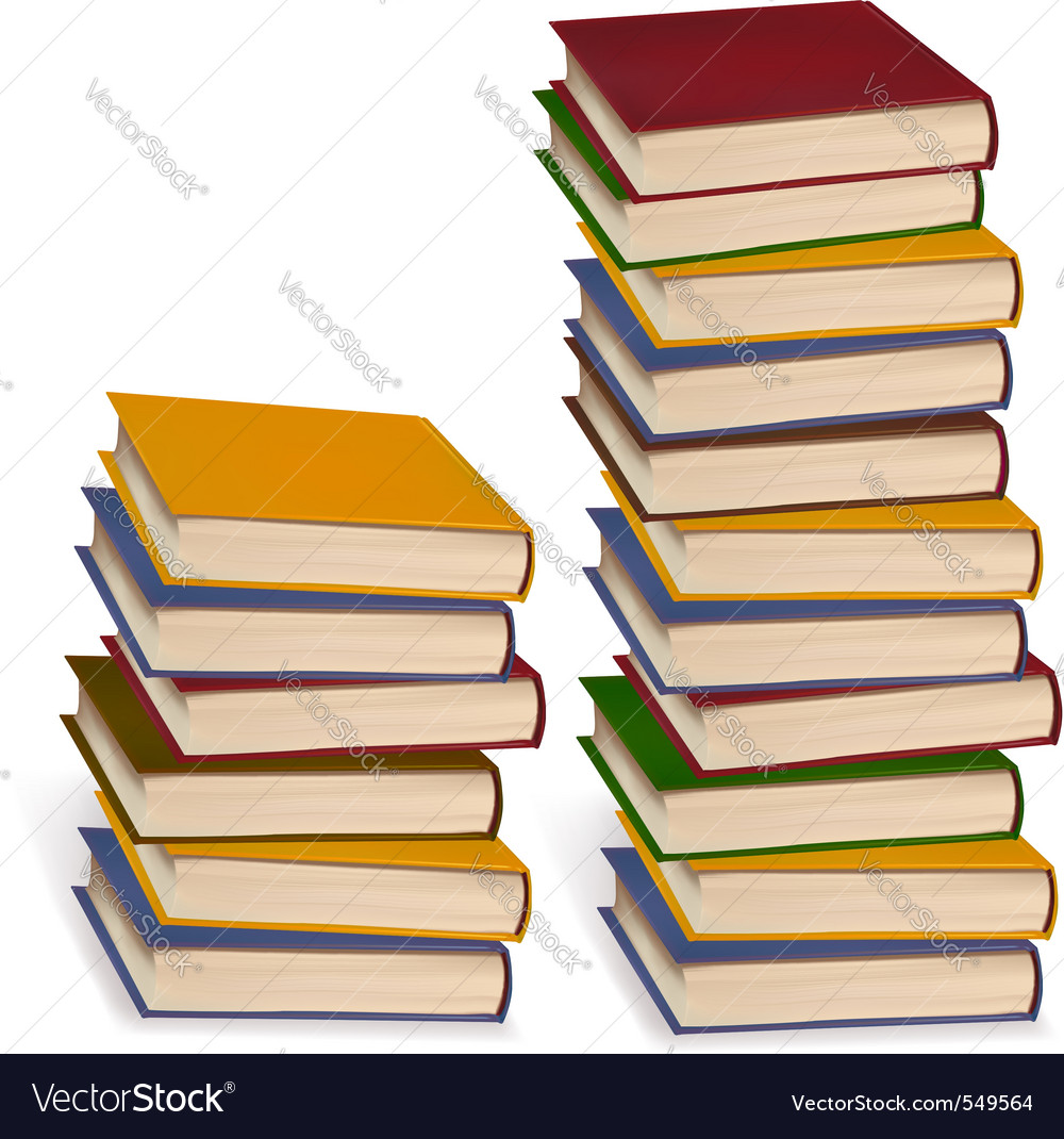 Stack of colorful books vector