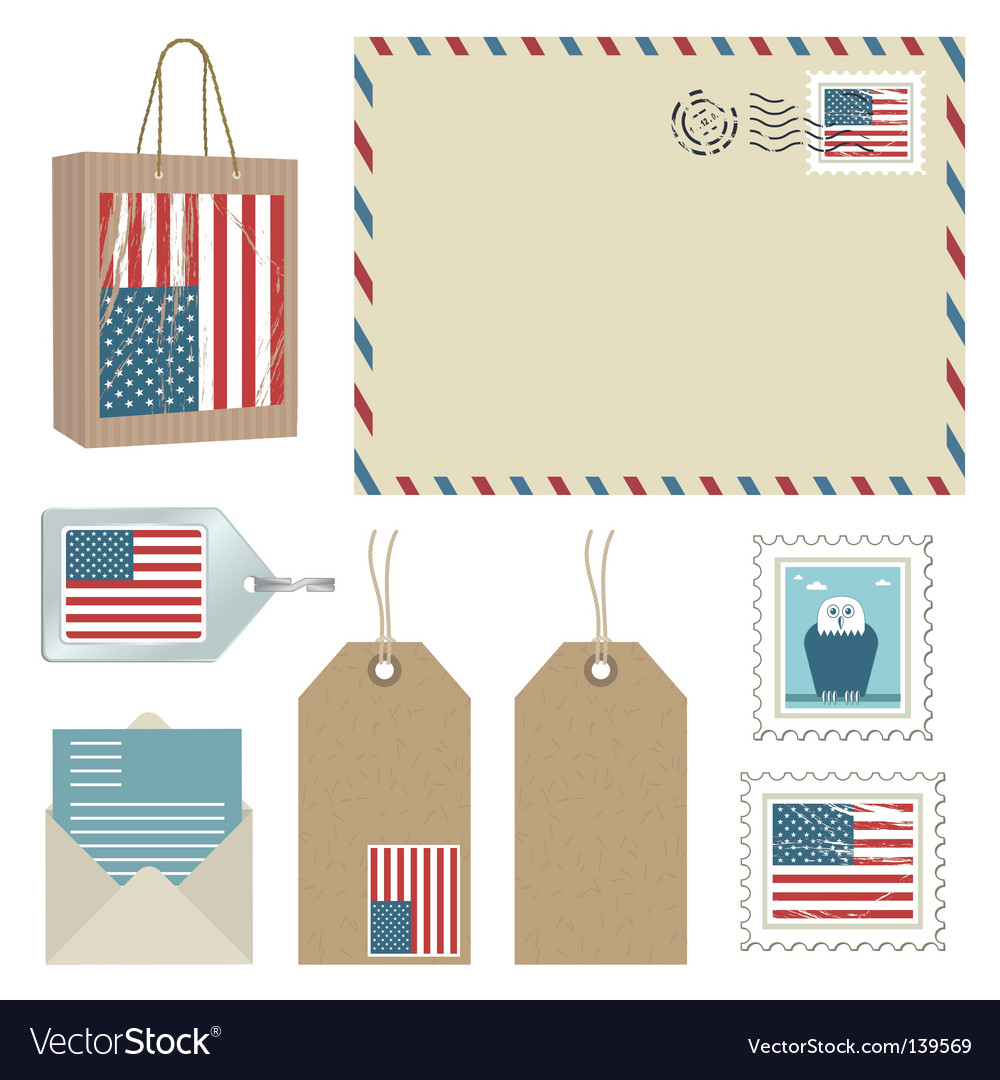 American postage vector