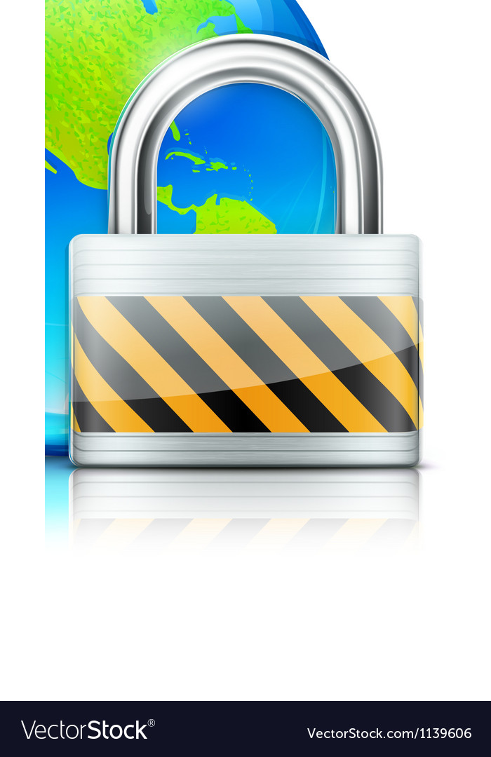 Global security concept vector