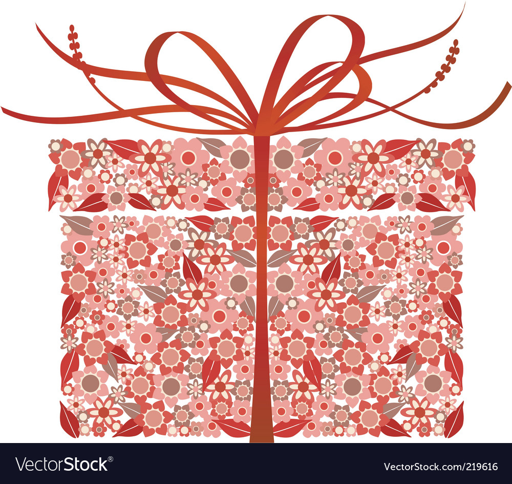Stylized gift box vector