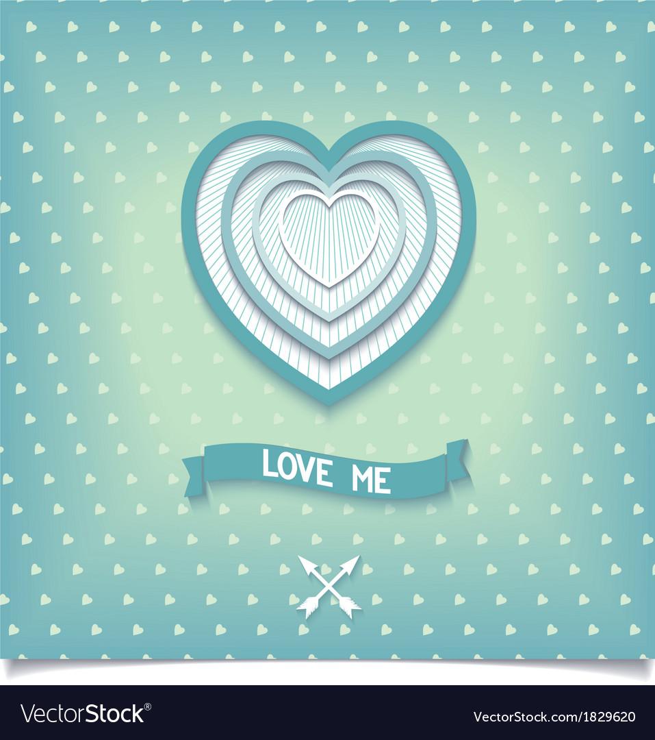 Beautiful retro design heart love me