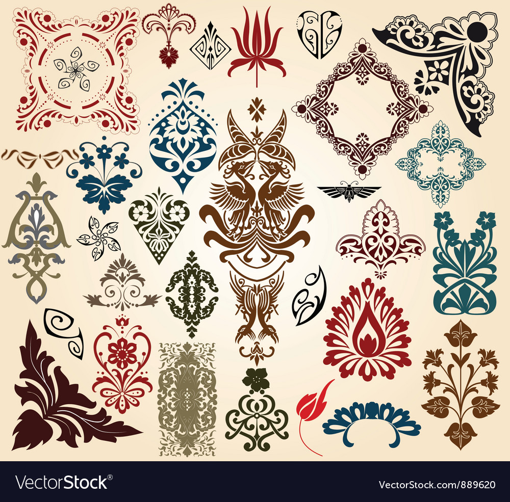 Retro collection vector