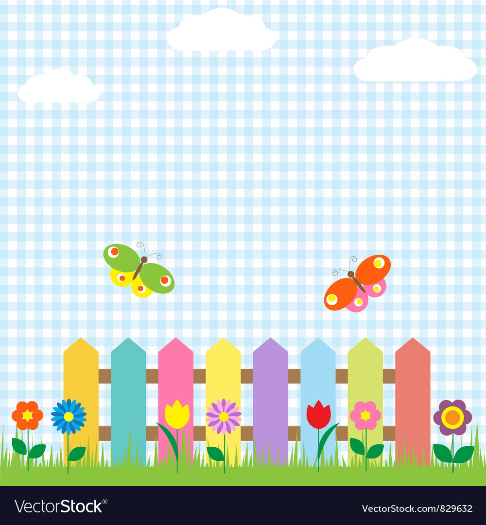 Flowers and butterflies vector