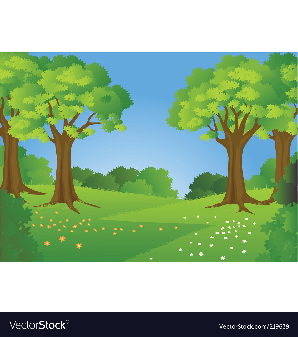Natural background vector