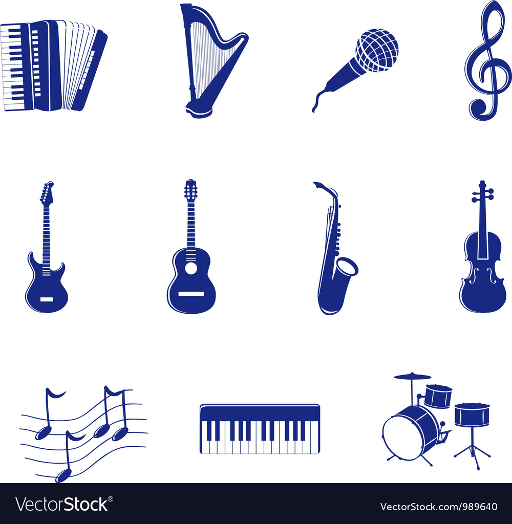 Musical icon vector
