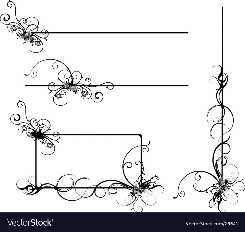 Design scrolls vector