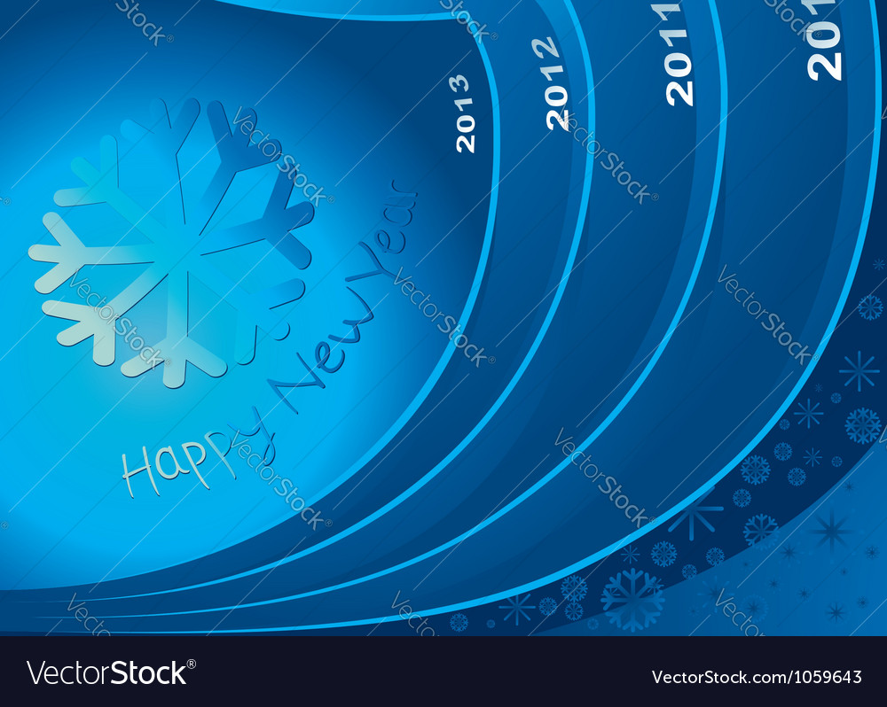 New year 2013 in the way vector