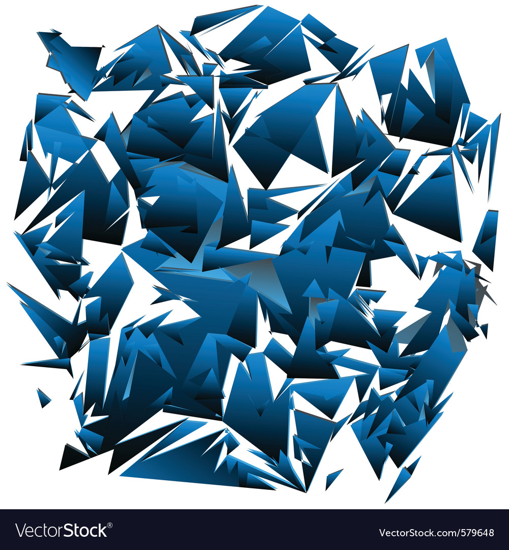 Shattered glass vector