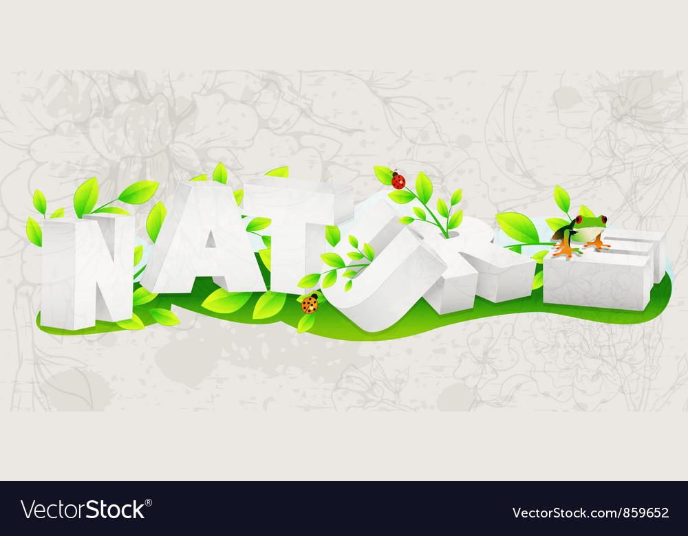 Nature 3d text