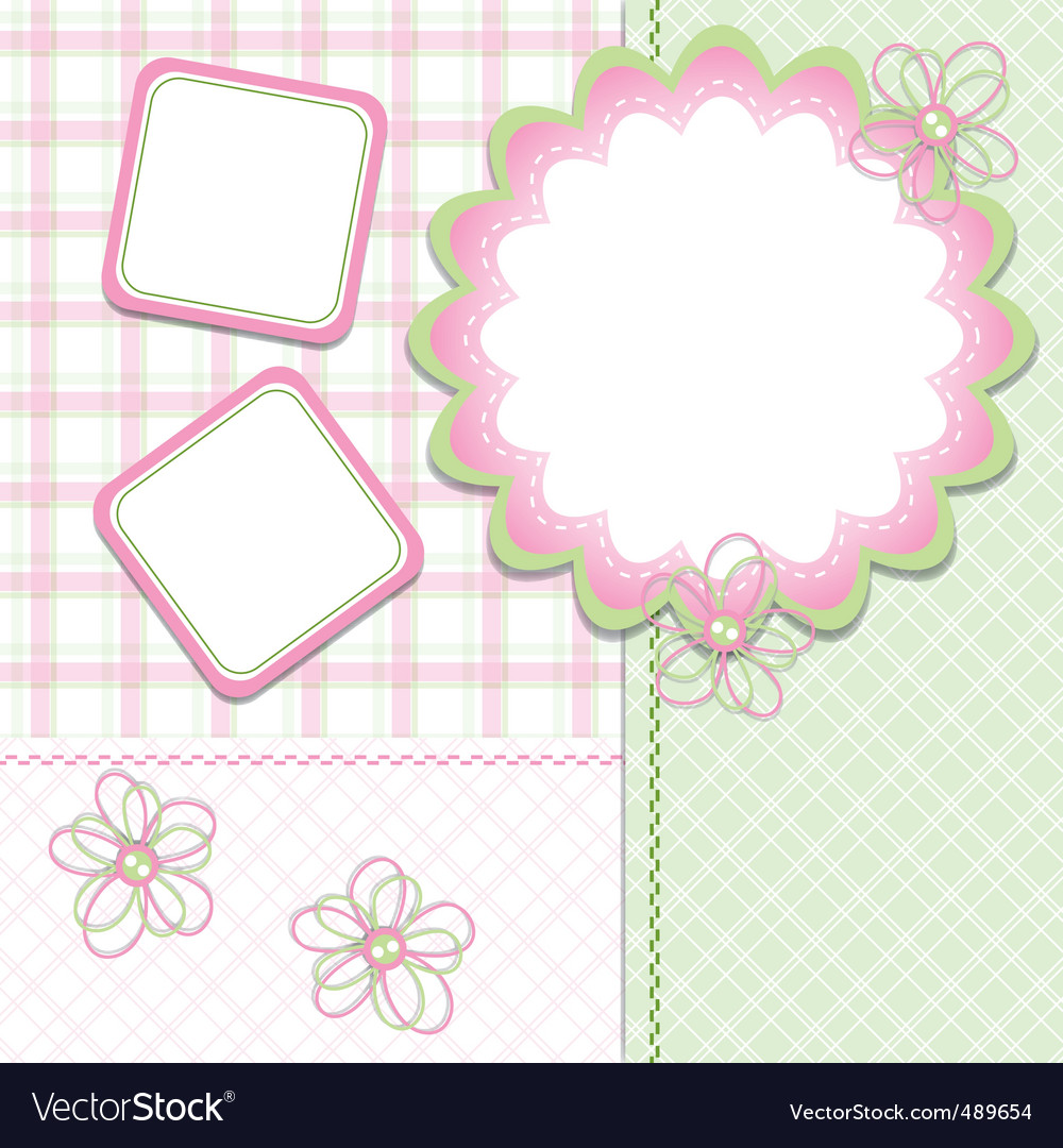 Girl template vector