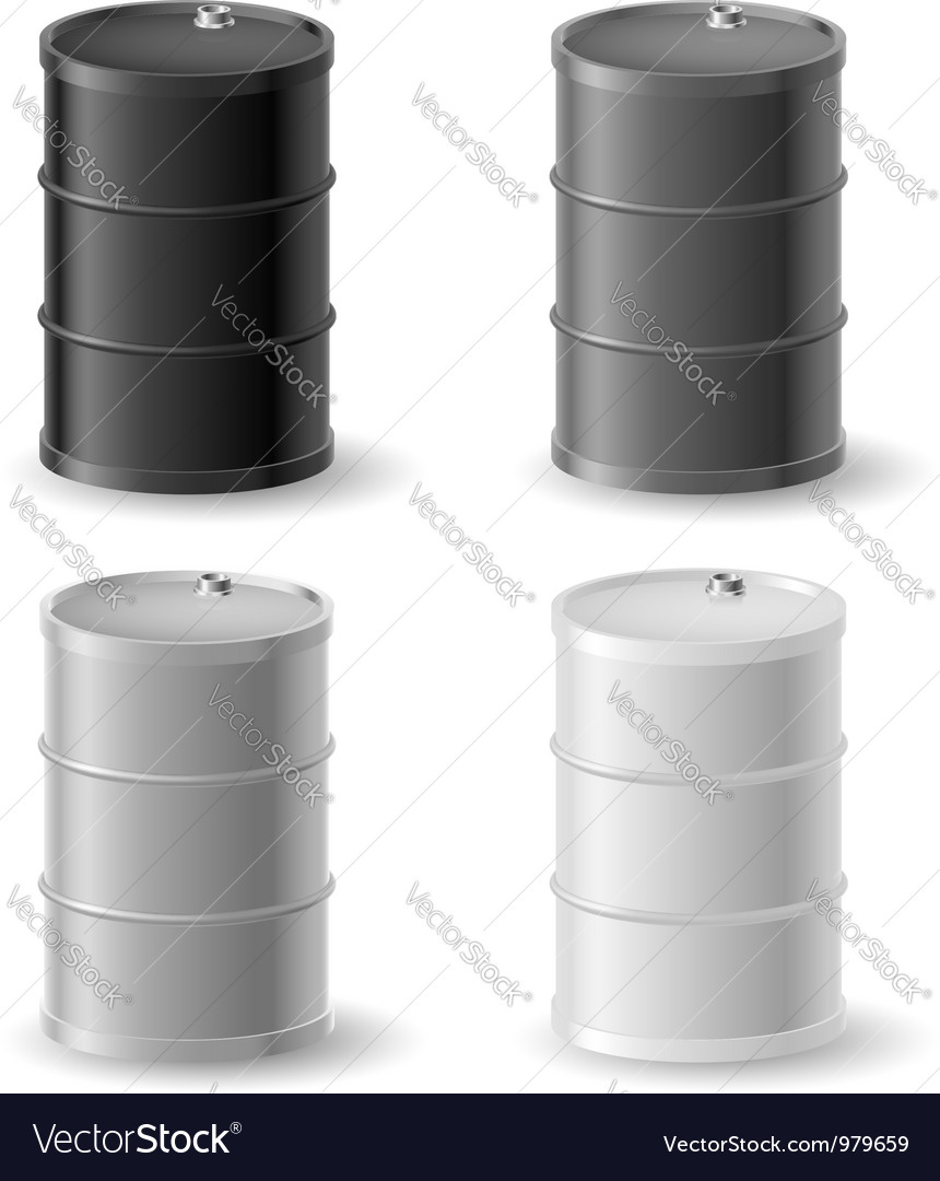 Oil barrels icon set vector