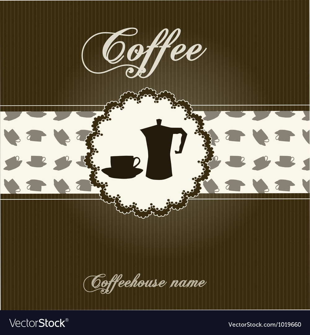 Concept of coffeehouse menu vector