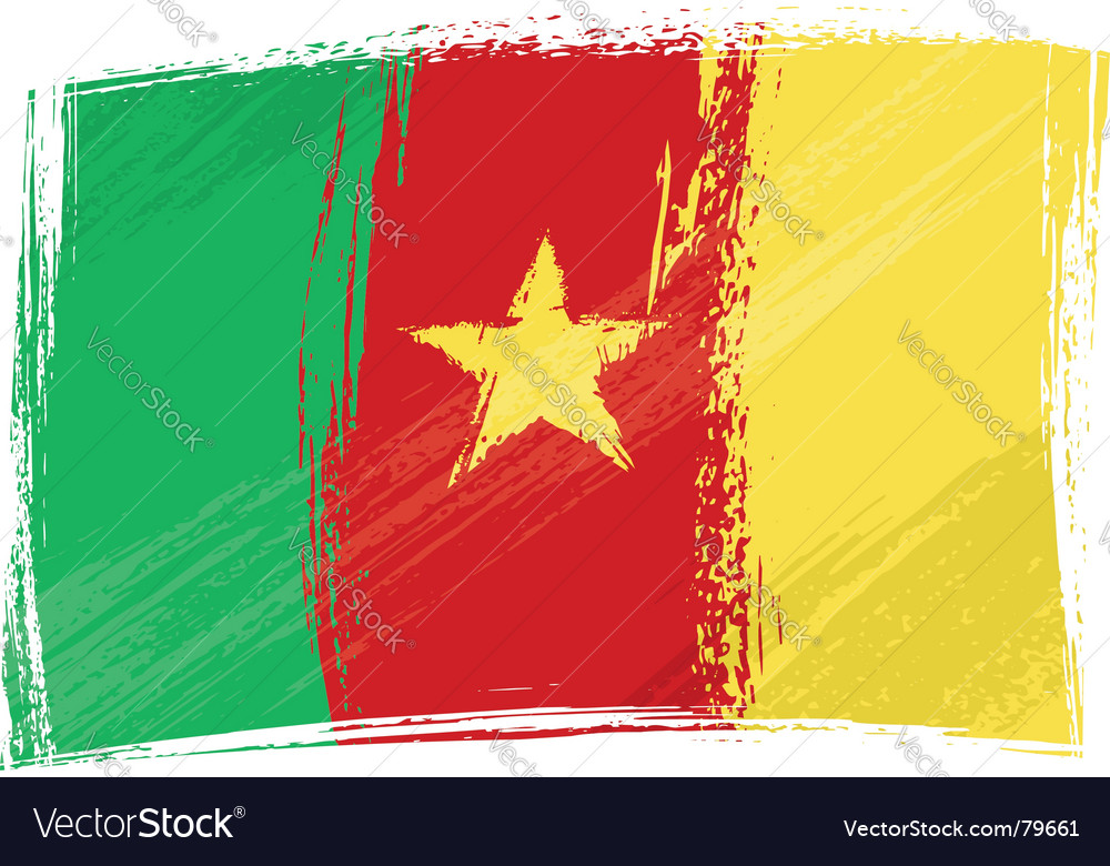 Grunge cameroon flag vector