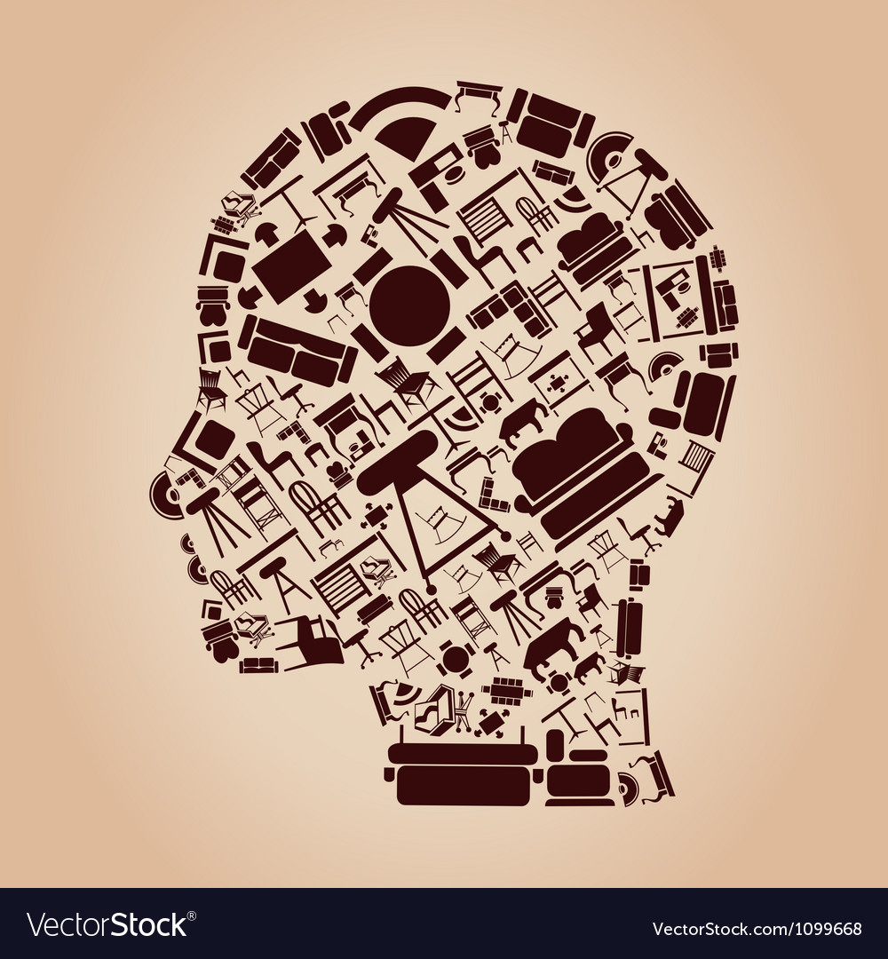 Furniture a head vector
