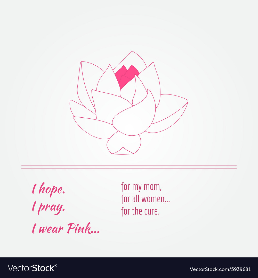 Breast cancer awareness background elements and