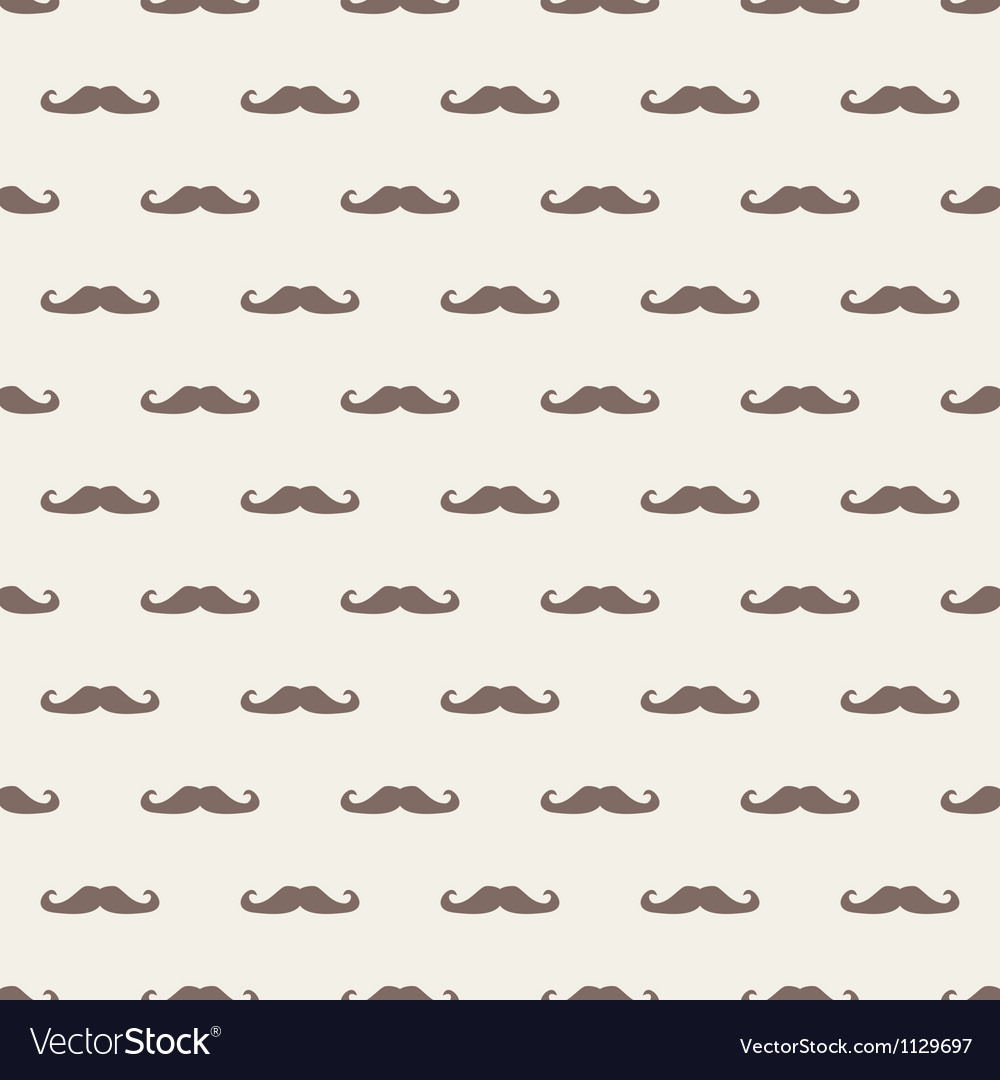 Seamless background pattern with mustache vector