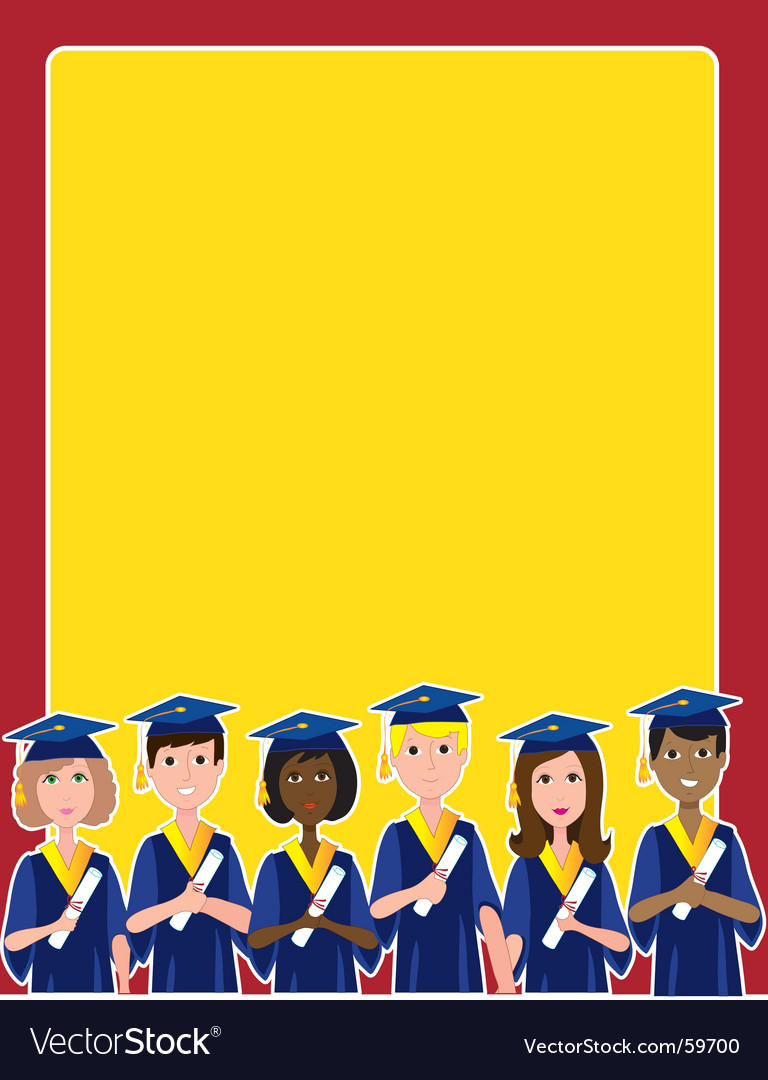 Graduation border vector by mkoudis image 59700 vectorstock