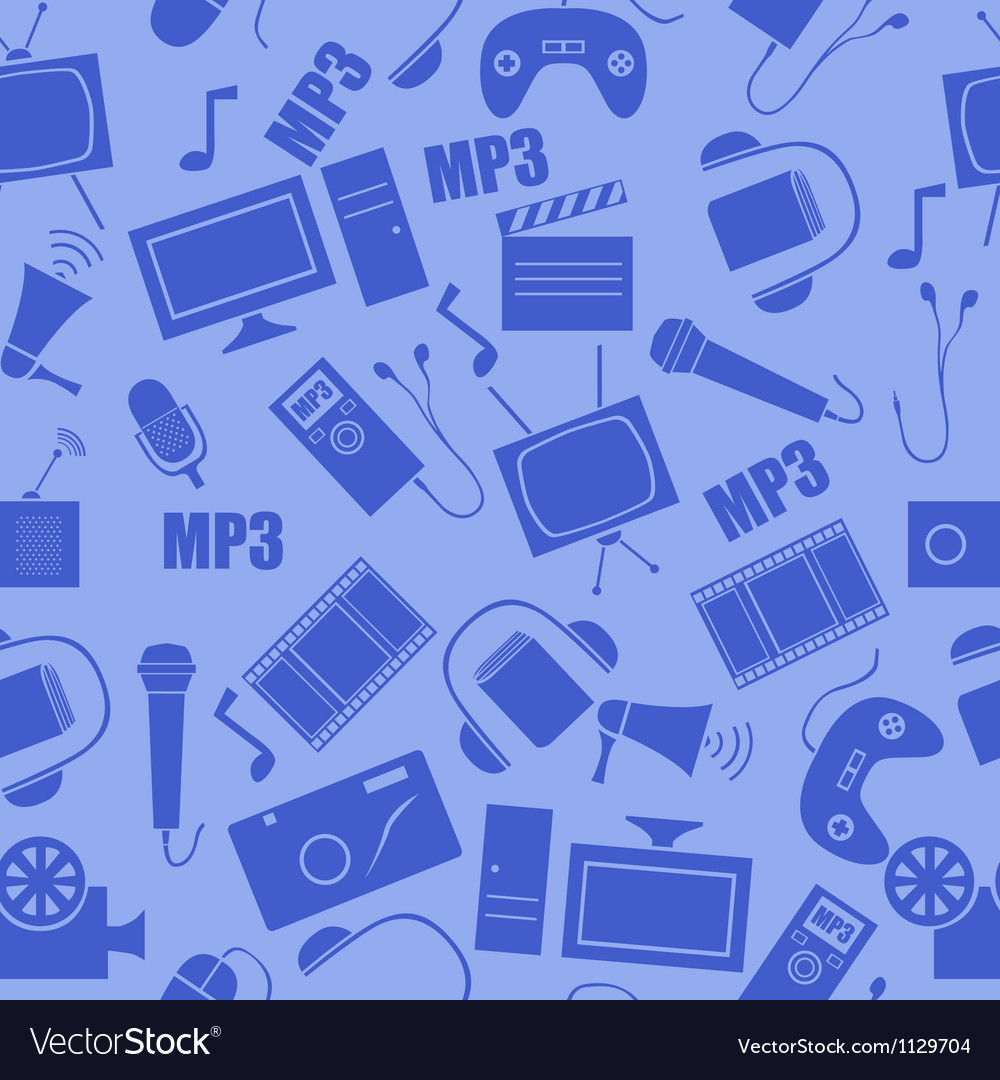 Media seamless pattern vector