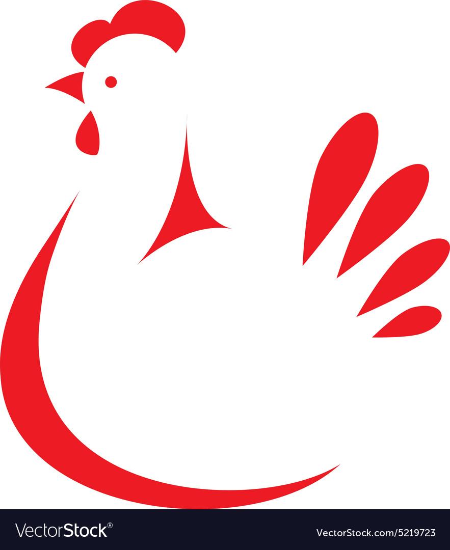 Chicken logo vector by matsiash - Image #5219723 - VectorStock