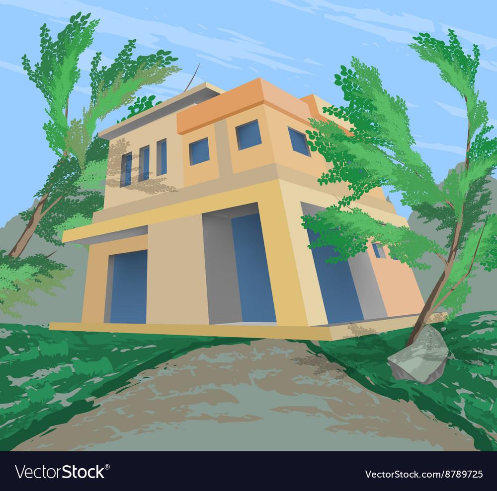 House nature scene