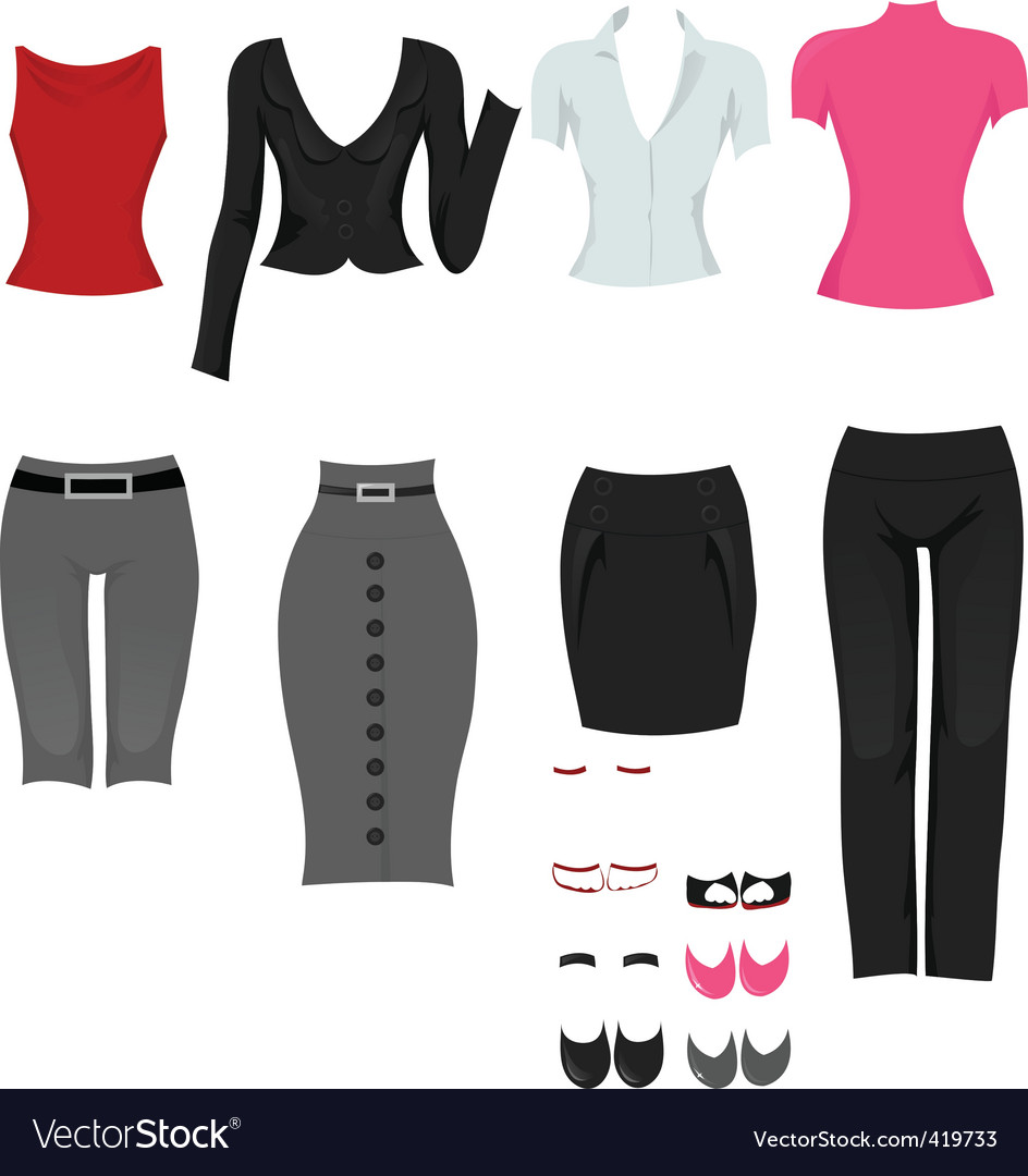 Office clothes vector