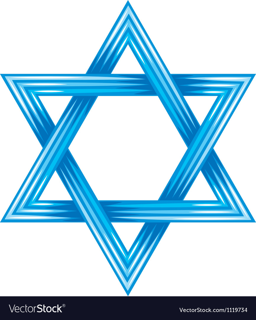 Star of david  symbol of israel vector