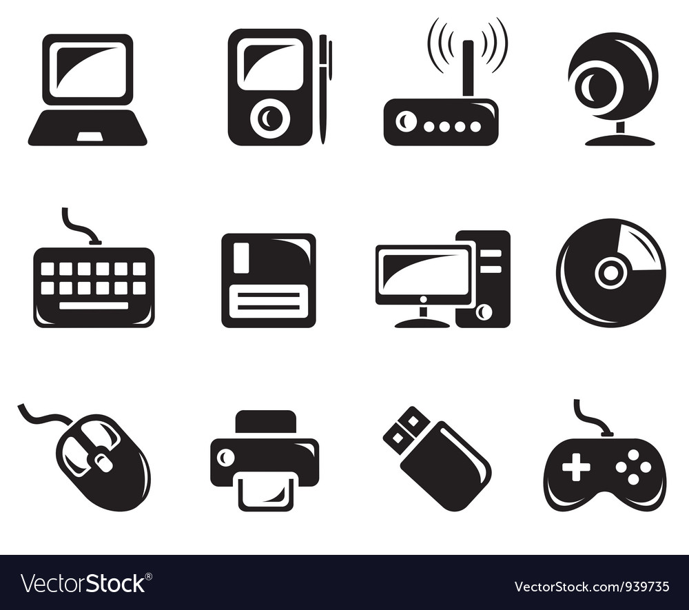 Hardware icons vector