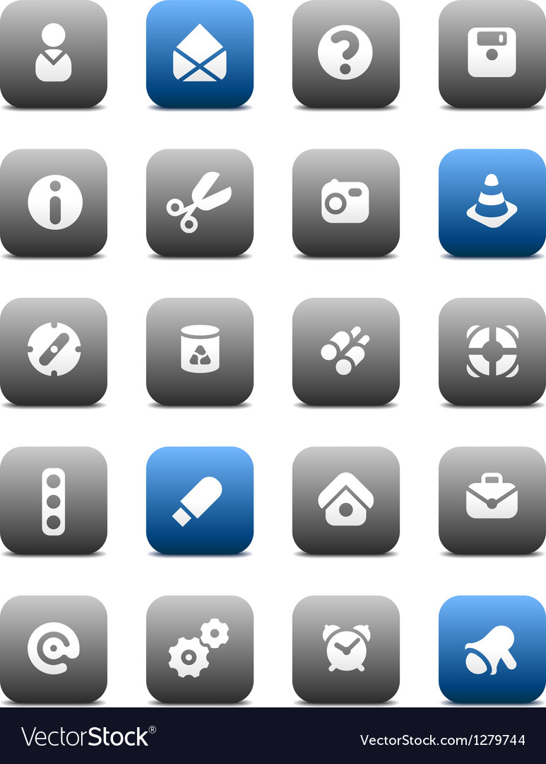 Matt miscellaneous buttons vector