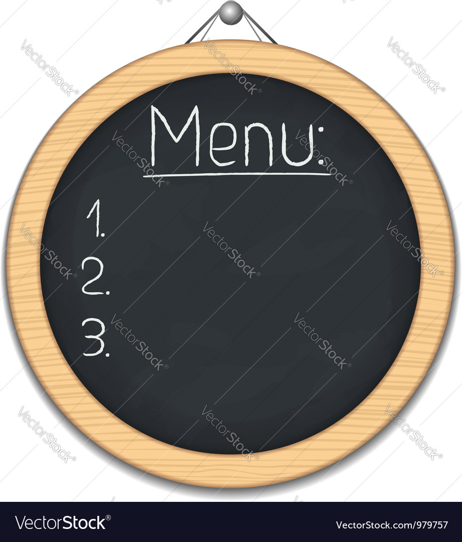 Round blackboard vector