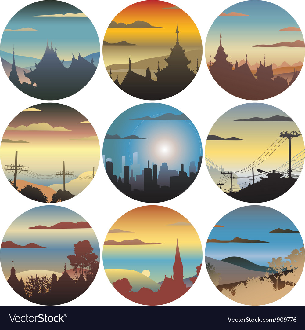 Circular views vector