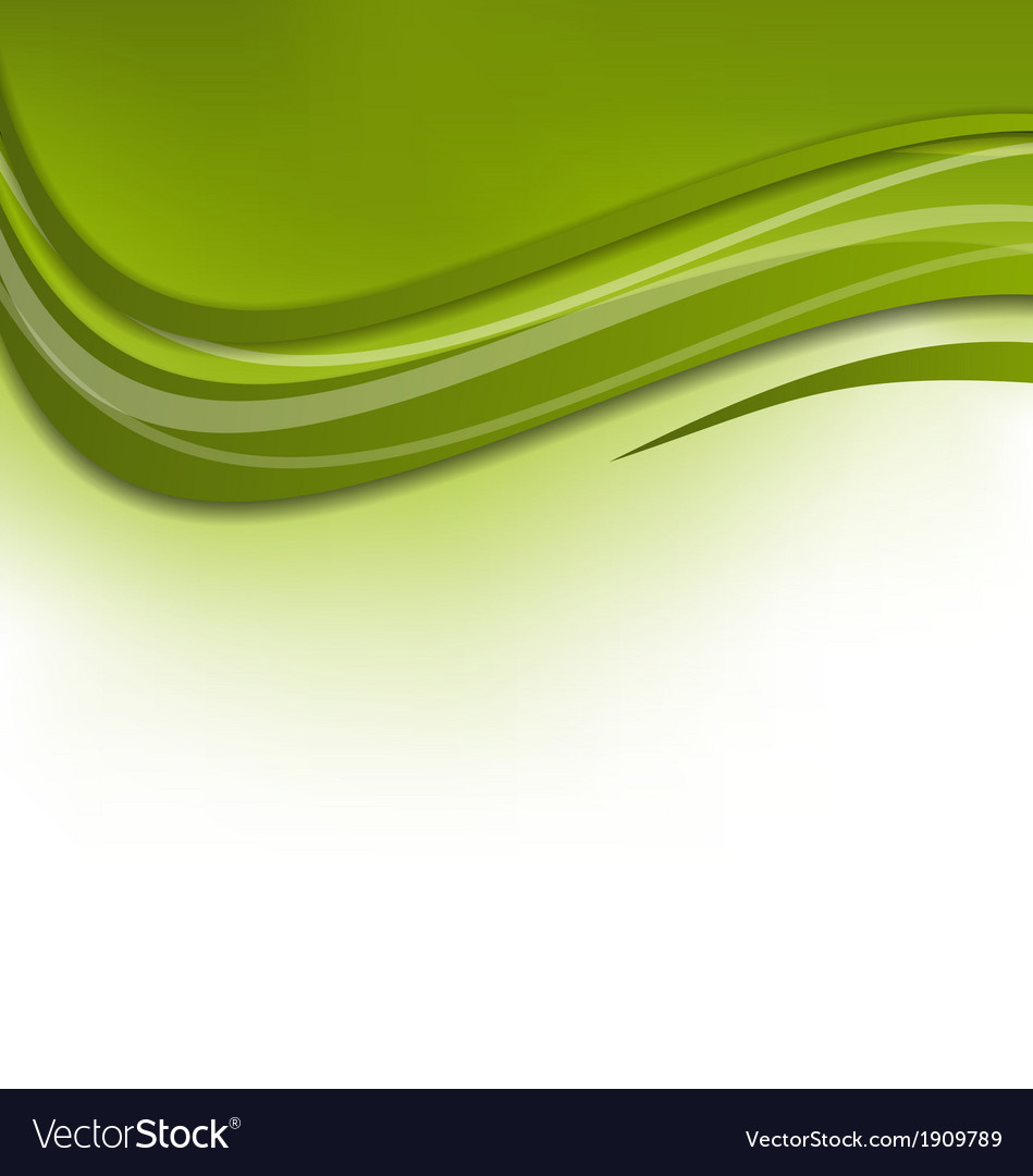 Green wawy background design template