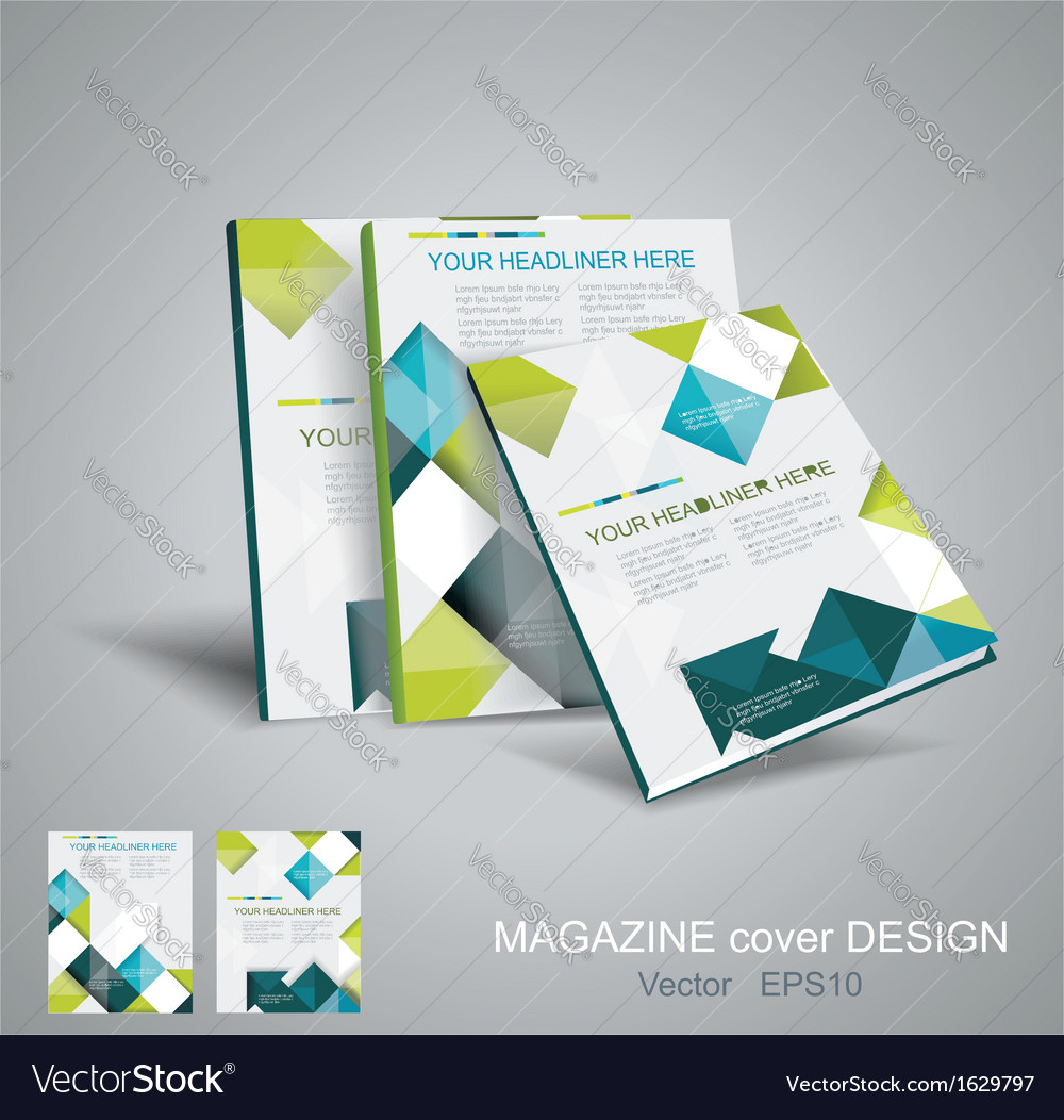 Brochure template design with cubes and arrows vector