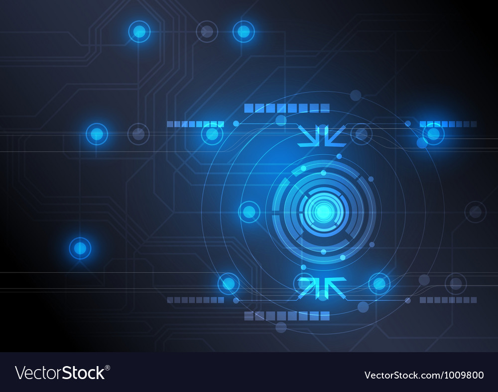 Modern button and technology background design vector