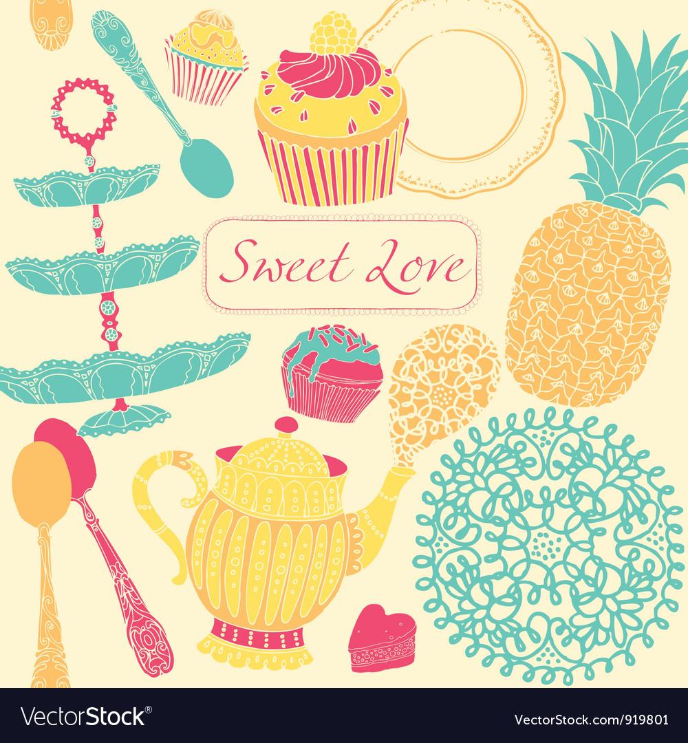 cupcake birthday card vector by zolssa  image   vectorstock, Birthday card