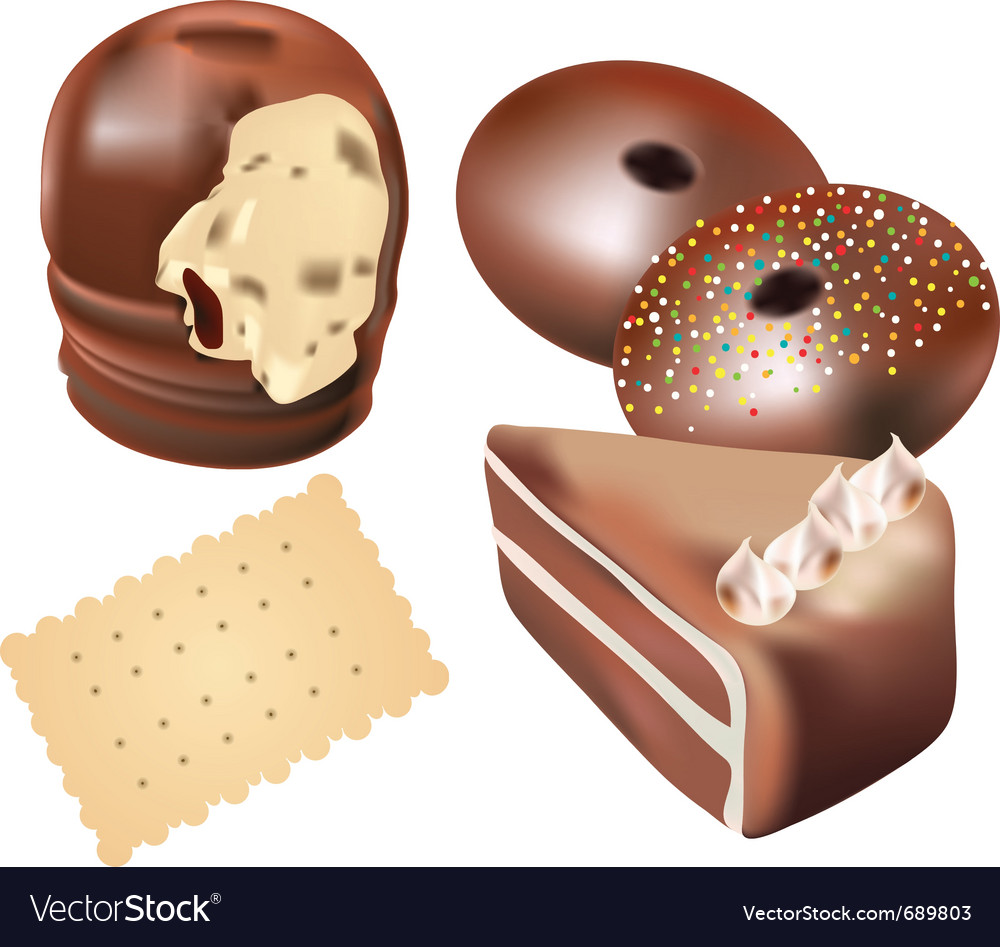 Cookies and sweets vector